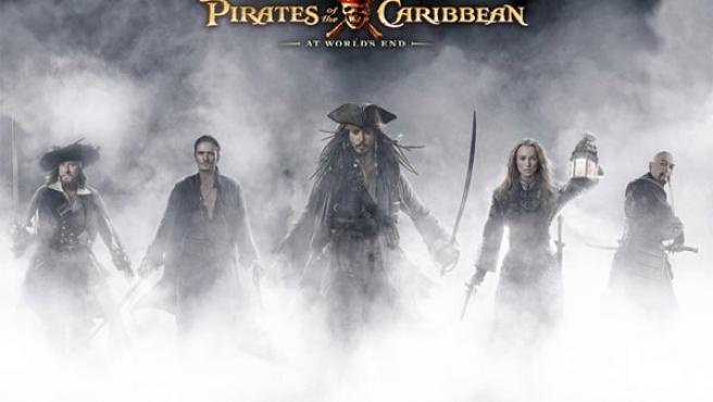 Uno de los carteles de 'Piratas del Caribe: En el fin del mundo'.