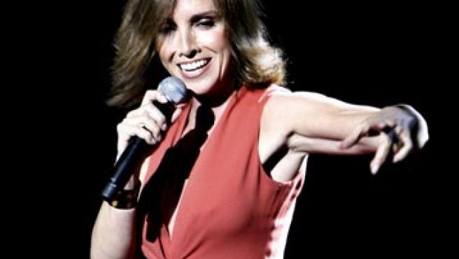 Ana Belén durante su actuación en el Teatro Gran Vía de Madrid. (EFE)