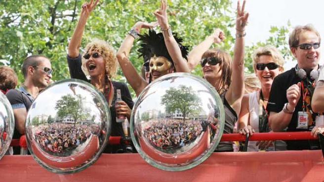 Imagen de una edición pasada del 'Loveparade' alemán.