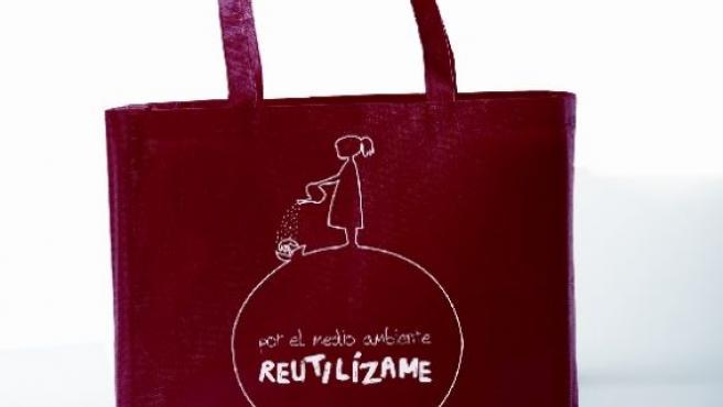 Detalle de las bolsas que regalará el Ayuntamiento (AYUNTAMIENTO DE PAMPLONA).
