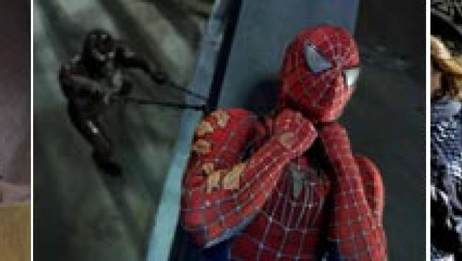 Imágenes de 'Shrek Tercero', 'Spider-man 3' y 'El señor de los anillos: El retorno del rey'.