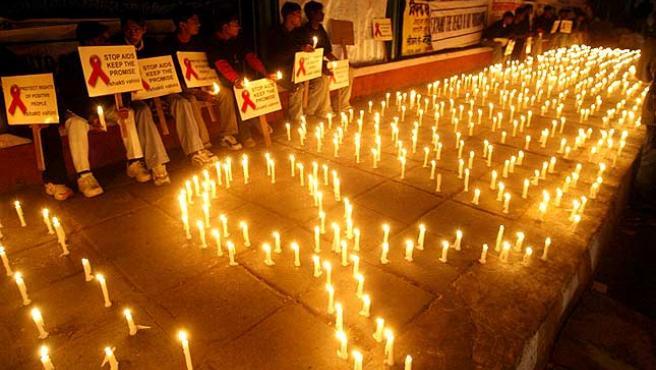 Imagen de archivo del Día Mundial contra el Sida. (AGENCIAS)