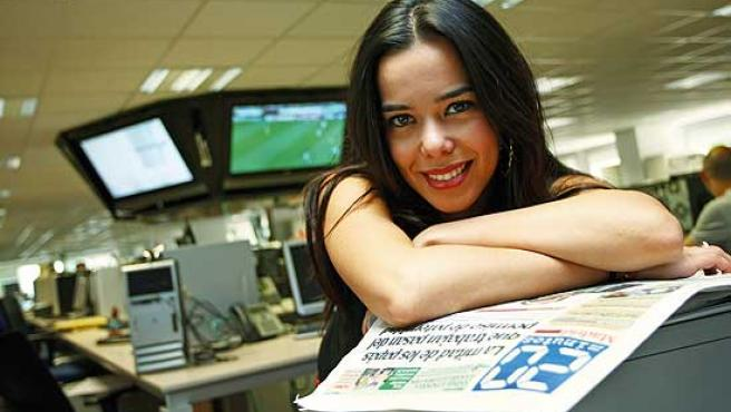 Beatriz Luengo, en la redacción de '20 minutos'.