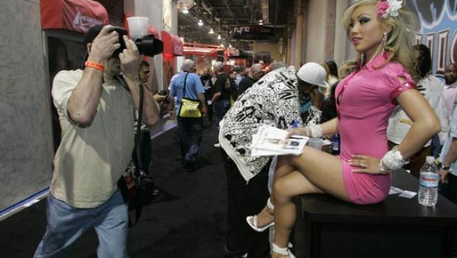 La actriz Jasmine Mai en la 'Adult Entertainment Expo' de Las Vegas