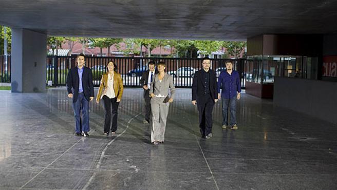 El equipo artísitico del programa 'Noche Hache'.