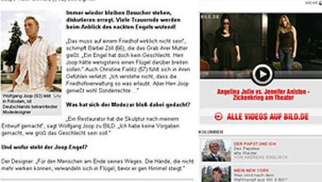 El ángel indecoroso de Wolfgang Joop. (FOTO: BILD ZEITUNG)