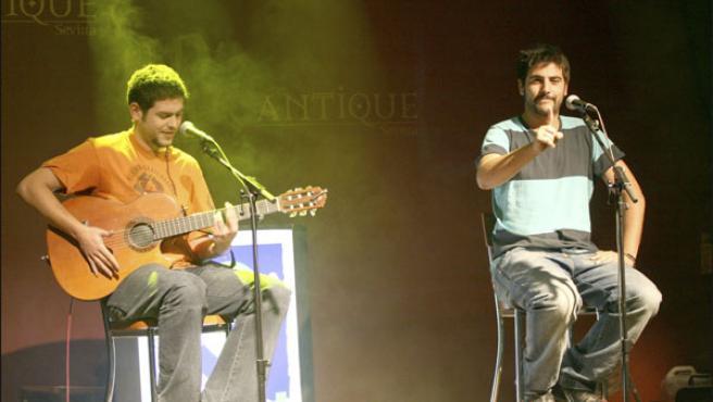 Estopa, durante un concierto en Sevilla (Foto: KORPA).