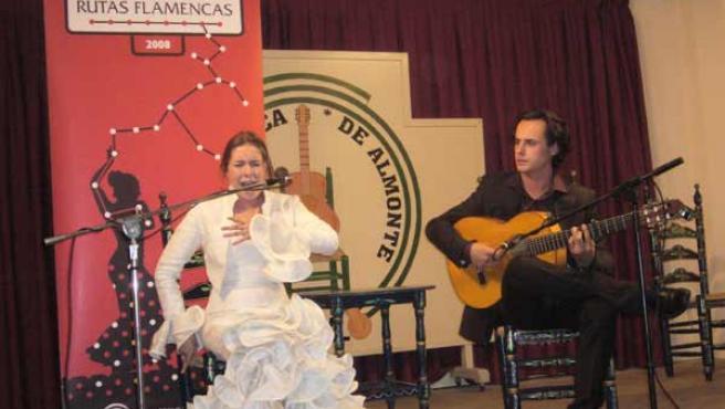 Una de las actuaciones que han integrado el programa flamenco.