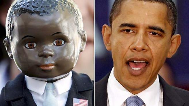 Barack Obama ya tiene su muñeco. (John Sommers y Franz-Peter Tschauner / EFE).