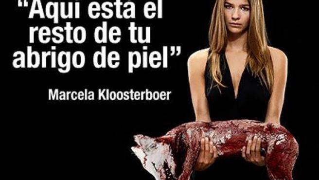 La joven actriz Marcela Kloosterboer participa en la campaña contra el uso de pieles. (ANIMANATURALIS)