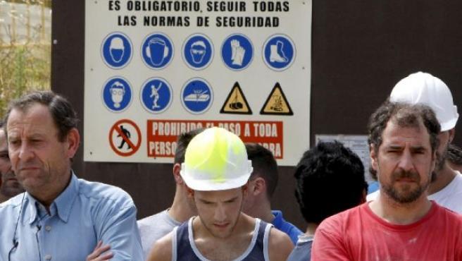 Manifestación en contra de los accidentes laborales(ARCHIVO)