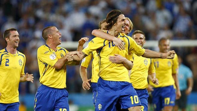 Ibrahimovic, con su selección.