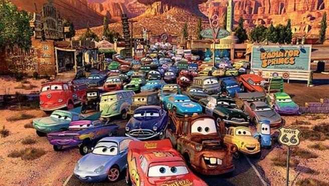 Los protagonistas de la película de Pixar 'Cars'.
