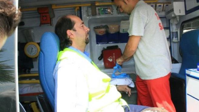 Huelguista herido en Alicante