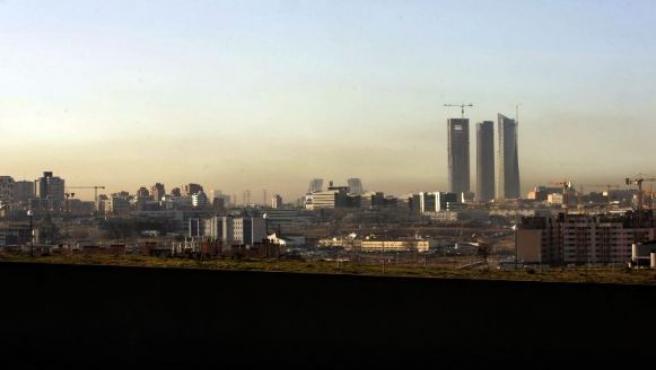 La 'boina', una nube de contaminación característica de Madrid.