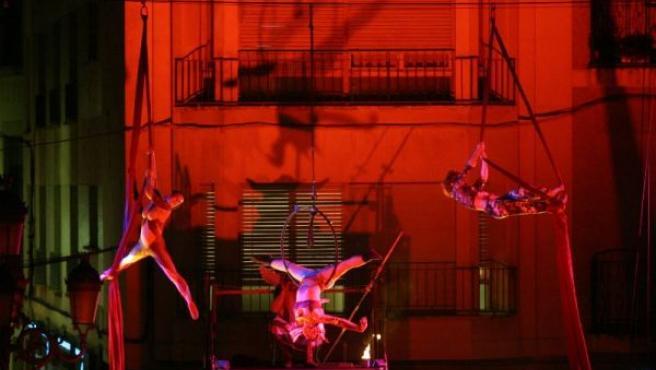 Imagen de un espectáculo de circo (ARCHIVO).