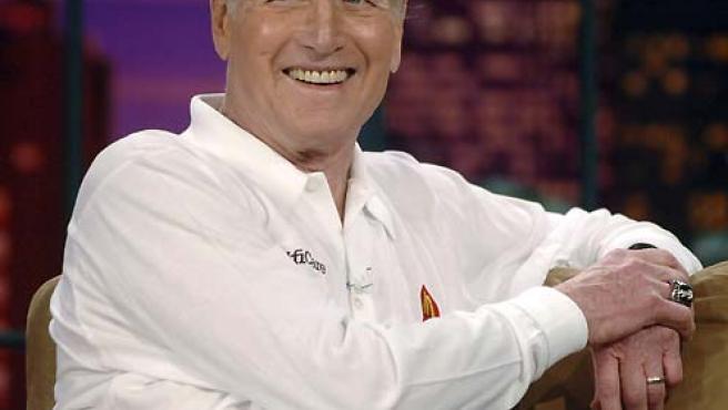 Imagen de Paul Newman durante una entrevista televisiva en 2005. (Jim Ruymen / Reuters).