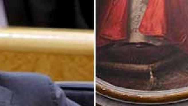 José Luis Rodríguez Zapatero y el cardenal Tarcisio Bertone. (EFE)