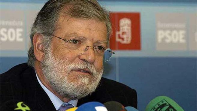 El secretario general del PSOE de Extremadura, Juan Carlos Rodríguez Ibarra. (EFE)