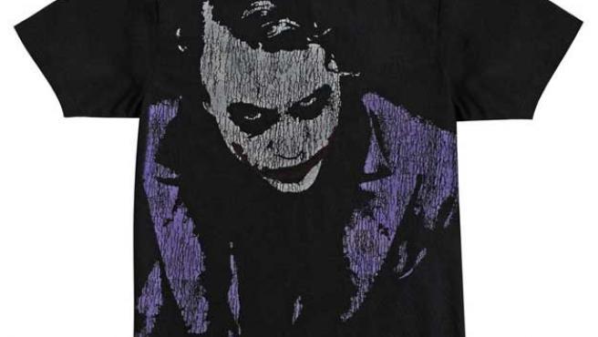 Camiseta con el Joker de Heath Ledger.