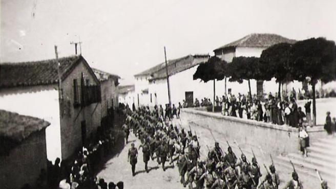 Junto con las tropas nacionales llegadas de África, pelearon 100.000 rifeños (FOTO DONADA POR LUIS BARRERO CABALLERO )