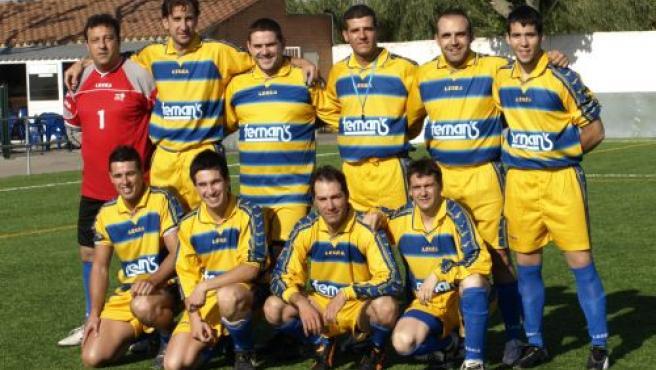 Equipo de fútbol 7 de la Policía local de Salou.