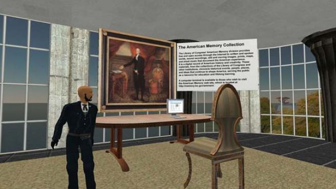 Una escena de Second Life.