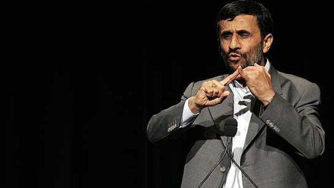 El presidente de Irán, Mahmoud Ahmadineyad, en la Universidad de Columbia.
