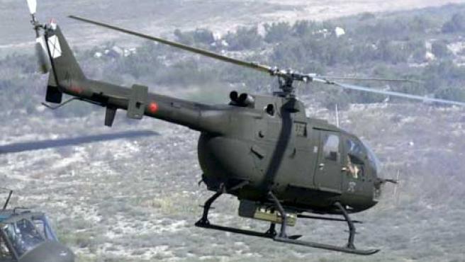 Un helicóptero de las Fuerzas Armadas Españolas.