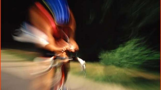Un triatleta en plena prueba.
