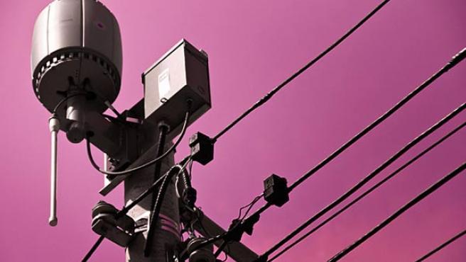 Una antena WiFi en las calles de Toronto.