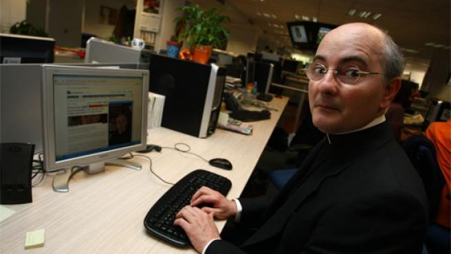José Antonio Fortea, en un encuentro digital en 20minutos.es Foto: Jorge París).