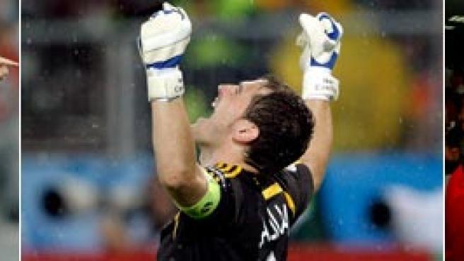 Los goles de Xavi, Güiza y Silva llevaron a España a la final.