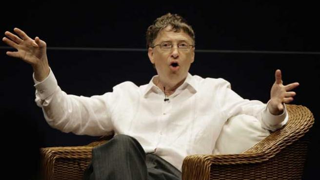 Bill Gates durante la conferencia.