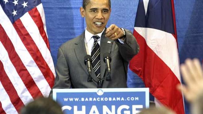 Barack Obama, en un mitin en la Universidad de Puerto Rico (FOTO: REUTERS)