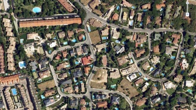 Piscinas en Google Earth