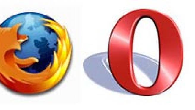 Logotipos de Internet Explorer, Firefox, Opera y Safari.