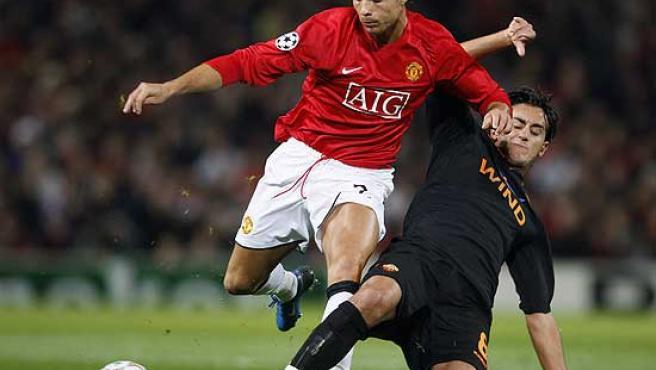 Cristiano Ronaldo, con la camiseta del Manchester United.