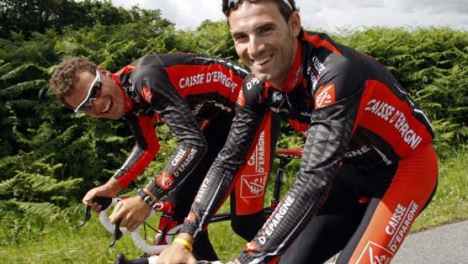Alejandro Valverde y Luis León Sánchez se preparan para el Tour. (REUTERS)