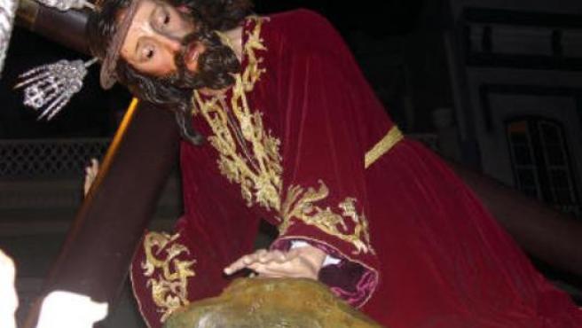 El Santísimo Cristo de las Tres Caídas, una de las imágenes de mayor calidad de la Semana Santa palmera.
