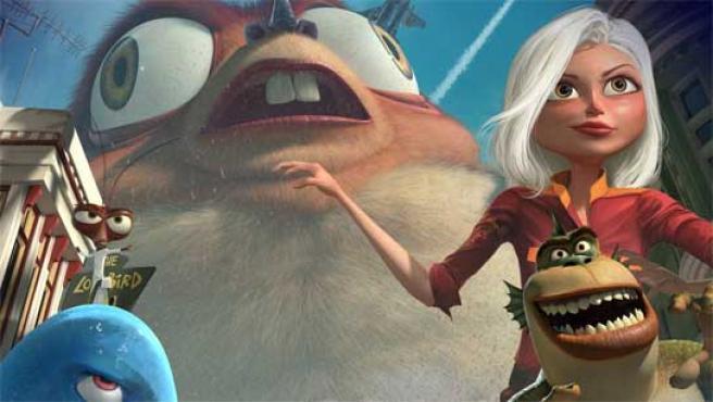 Imagen de la página web 'Monsters vs. Aliens'.