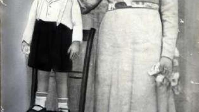 Jerónima Blanco Oviedo y su hijo Fernado Cabo Blanco.