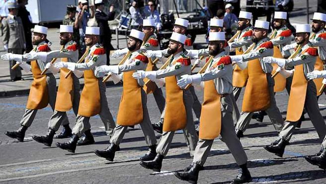 Una tropa de los Pioneros de la Legión Extranjera Francesa.
