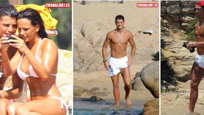 Cristiano Ronaldo y su novia en Cerdeña en varias imágenes publicadas en una web no oficial del jugador. (www.cronaldo7.es)