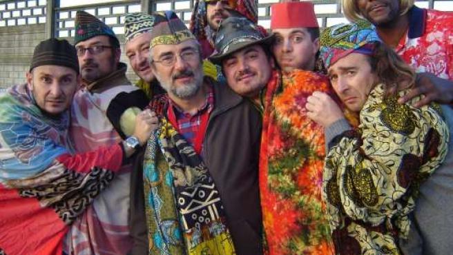 Los miembros del grupo Carlo Acti Dato Furioso Nonet.