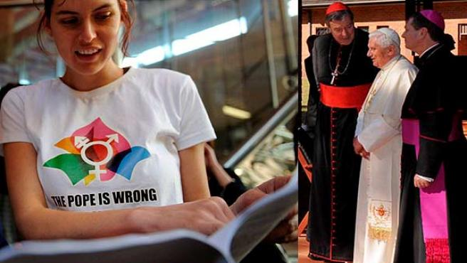 Organizaciones contrarias a la visita del Papa y el Pontífice, en su residencia en Australia (AGENCIAS).