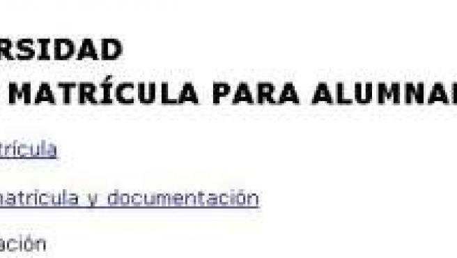 Imagen de la Web de la UPV. 20MINUTOS