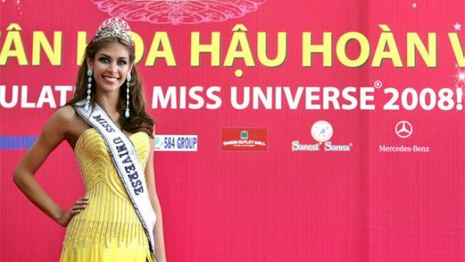 Dayana Mendoza, durante el concurso de Miss Universo.