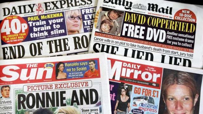 Portadas de periódicos británicos, en Londres, Reino Unido (EFE).