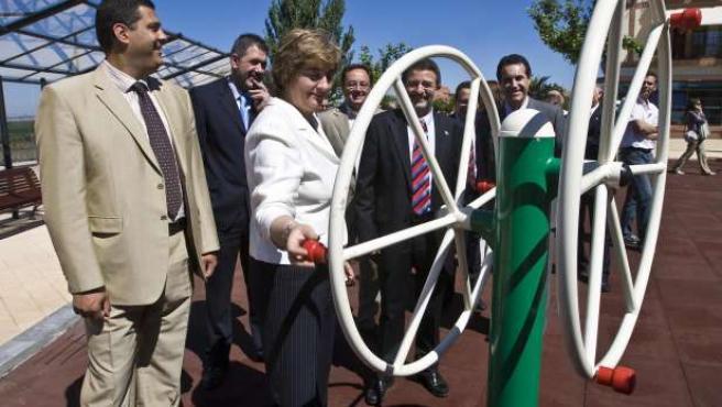 Inauguración del área de esparcimiento en el Parque de la Mota.(ICAL)